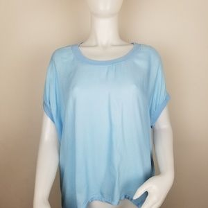 Anthropologie Cloth & Stone XL Blue Hi-Low Shirt